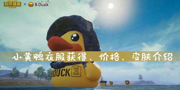 和平精英小黄鸭衣服获得、价格、皮肤介绍