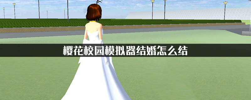 樱花校园模拟器结婚怎么结